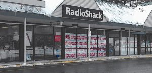 RADIOSHACK AT COOK'S CORNER Shopping Mall in Brunswick, as seen Friday. RadioShack may be closing its Brunswick and Topsham locations.