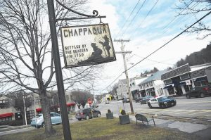 THIS PHOTO SHOWS downtown Chappaqua, N.Y., along South Greeley Avenue.