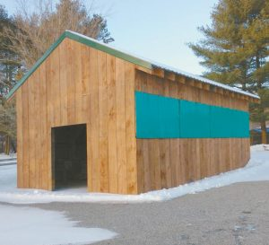 THE REPLICA 1820S BARN that will be the new home of the Lisbon Farmers Union marketplace is located on Route 196 in Lisbon Falls.