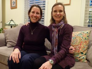DOCTORS CARRIE WERNER, left, and Sarah Ackerly, naturopathic midwives at Northern Sun Family Health Care in Topsham, traveled through a blizzard to Mechanic Falls Tuesday to deliver a baby boy.