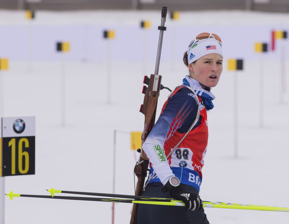 Clare Egan of Cape Elizabeth finished 40th in the 7.5K sprint in her world championship debut on Saturday. USBiathlon/NordicFocus