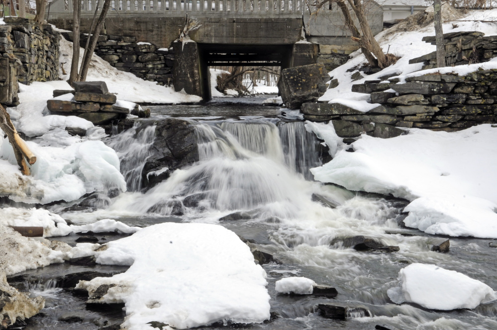 The Box Mill dam on Outlet Stream