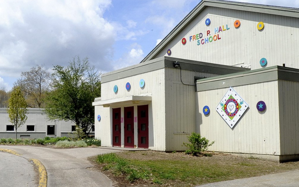 The Fred P. Hall Elementary School was built in 1956, and  has problems with drainage, rotting siding. and wiring.