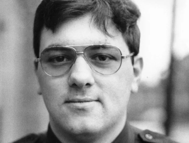 Stephen M. Dodd, early in his career as a Biddeford police officer