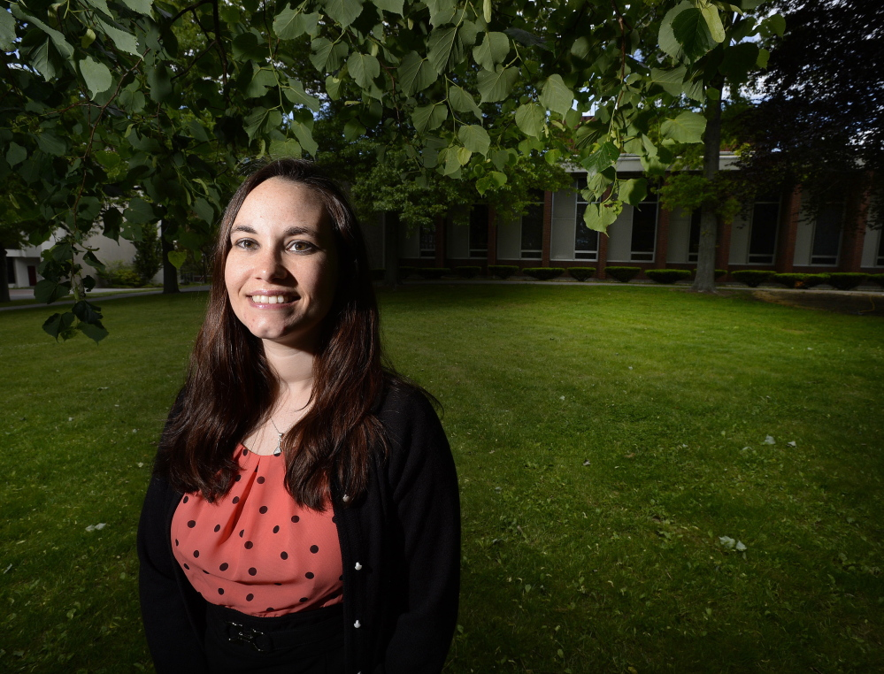 Casey Webster, 28, who works at the University of Southern Maine in Portland, took advantage of her employer's tuition reimbursements to help with the cost of her master's degree.