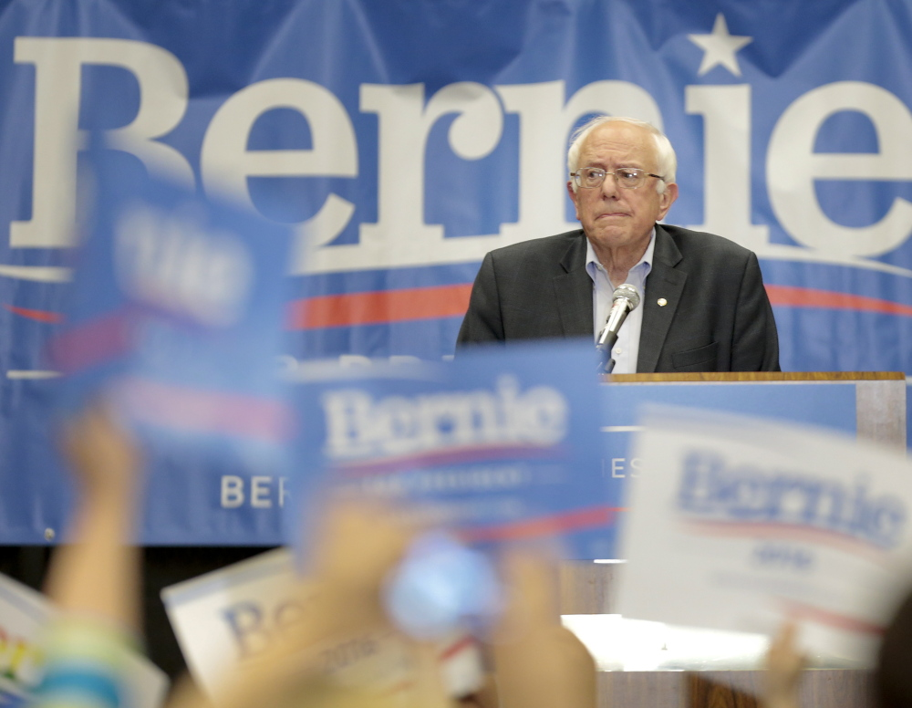 """Democratic presidential candidate Sen. Bernie Sanders is a self-described """"strong progressive"""" who champions workers."""