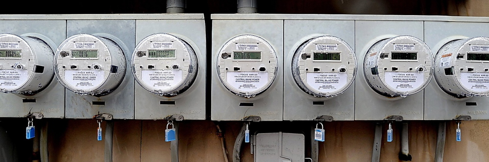 Since September 2009, Central Maine Power has installed 625,000 smart meters, like these at an apartment building on Portland's Western Prom.