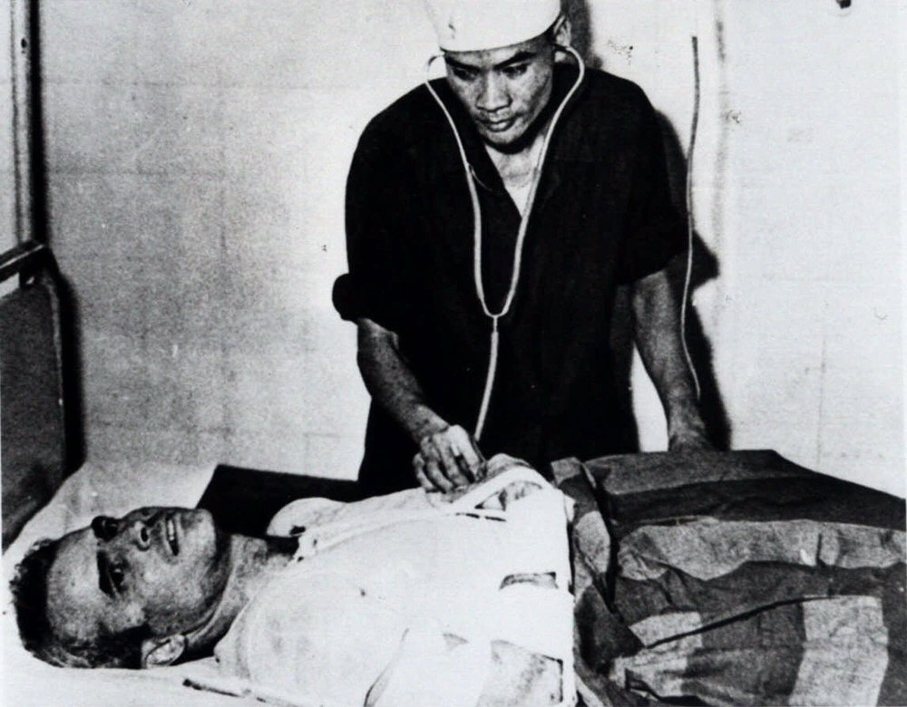 1967 Associated Press File Photo John McCain is administered to at a Hanoi, Vietnam, hospital as a prisoner of war.
