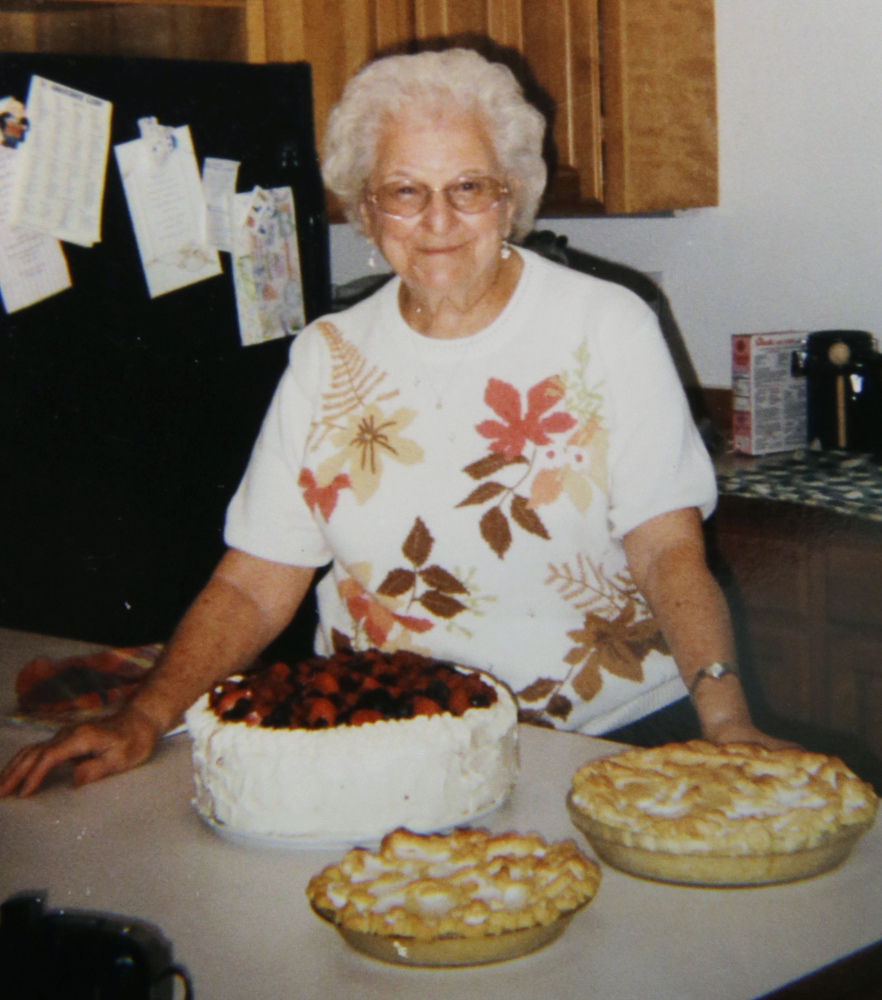 Evelyn Nappa shows off her homemade cakes and pies. Nappa's daughter scrambled to find an adult-family home willing to take Medicaid payments after an assisted-living facility evicted her mom. The stress and change of surroundings strained her mother's health and she died six weeks later.