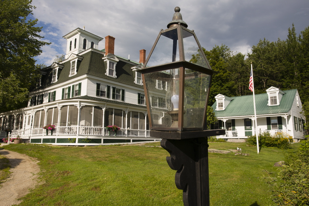 The new owners reopened the Center Lovell Inn recently. The previous owner, Janice Sage, also won the inn in an essay contest.