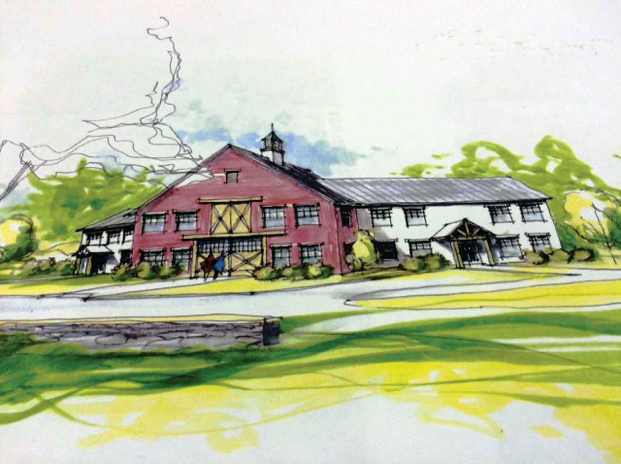 A Sanford builder hopes to replace a former residential care facility on Hanson's Ridge with a 16-unit apartment building styled to look like a farmhouse, similar to this artist's conception. Area neighbors say it won't fit in with the rural nature of the neighborhood. Sanford Planning Board members will visit the site Sept. 21.