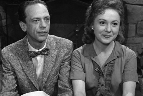 Don Knotts and Betty Lynn on the Andy Griffith Show