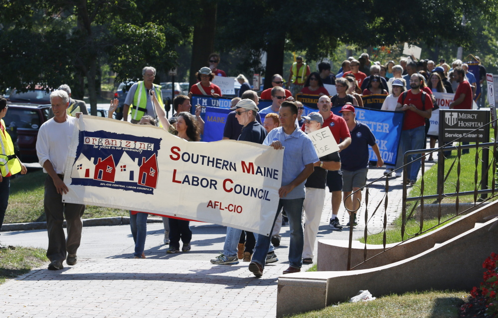 Labor Day Message In Portland Unions Push For Living Wage