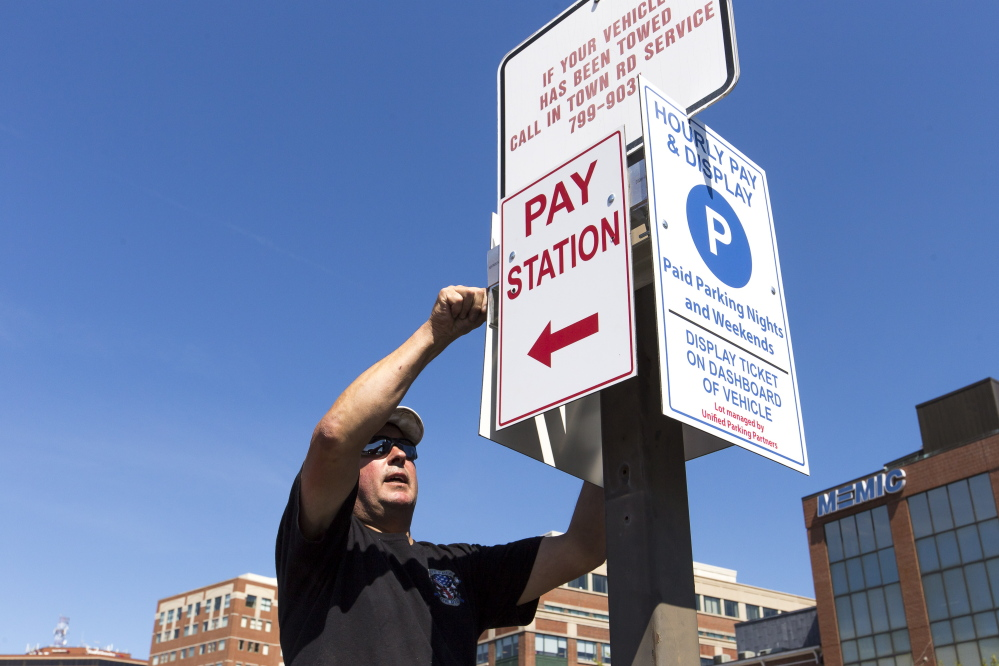 New signs show the rise of Unified Parking, but Sen. Eric Brakey had only himself to blame after his car was booted at a lot, a reader says.