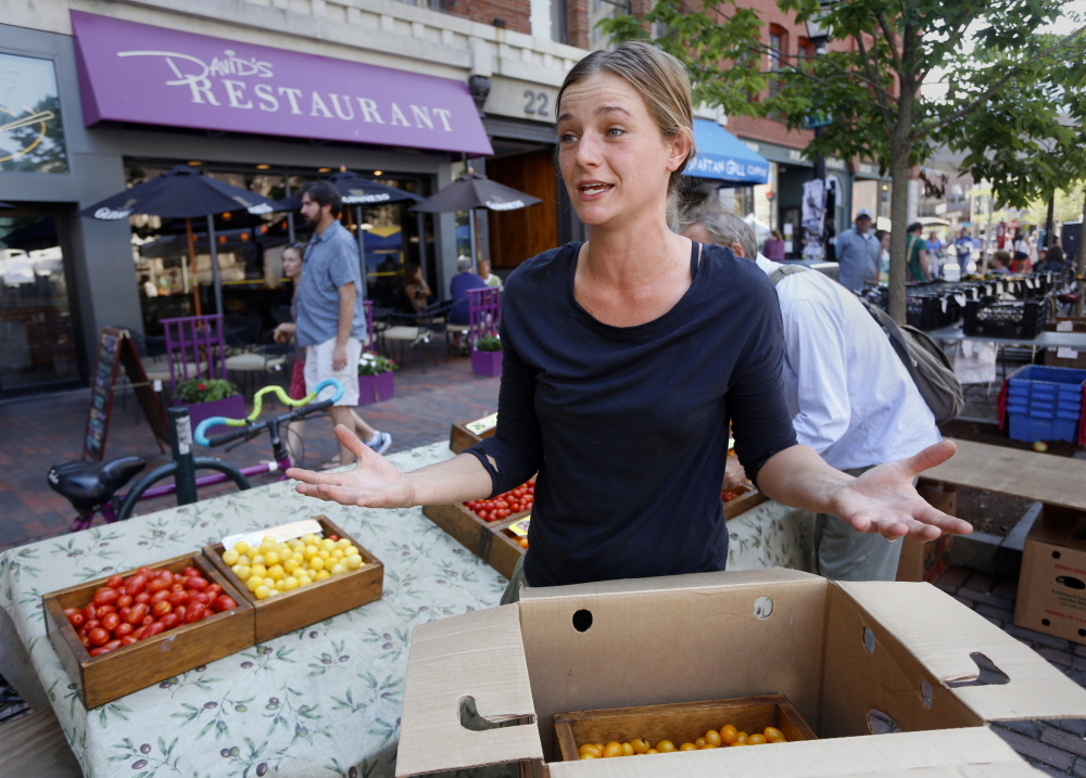 Whitney Graham, who works at Beckwith Farm in Yarmouth, said cutting off food stamps to some people will result in them eating less healthy food.