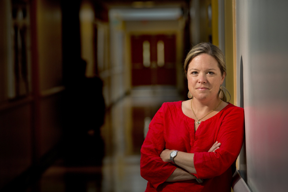 """Dr. Laura Blaisdell of Yarmouth says schools don't have many tools for improving vaccination rates. """"Parents have legal rights,"""" she said."""