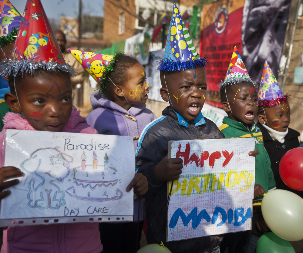"Kindergarten pupils sing a round of ""Happy Birthday to You"" in 2012. The song's copyright status has been under litigation for two years."