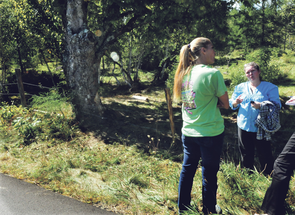 Jessica Robinson, left, and Teanda Smith on Monday recount the tragic death of Aimee Lasco in a car accident in Palmyra.