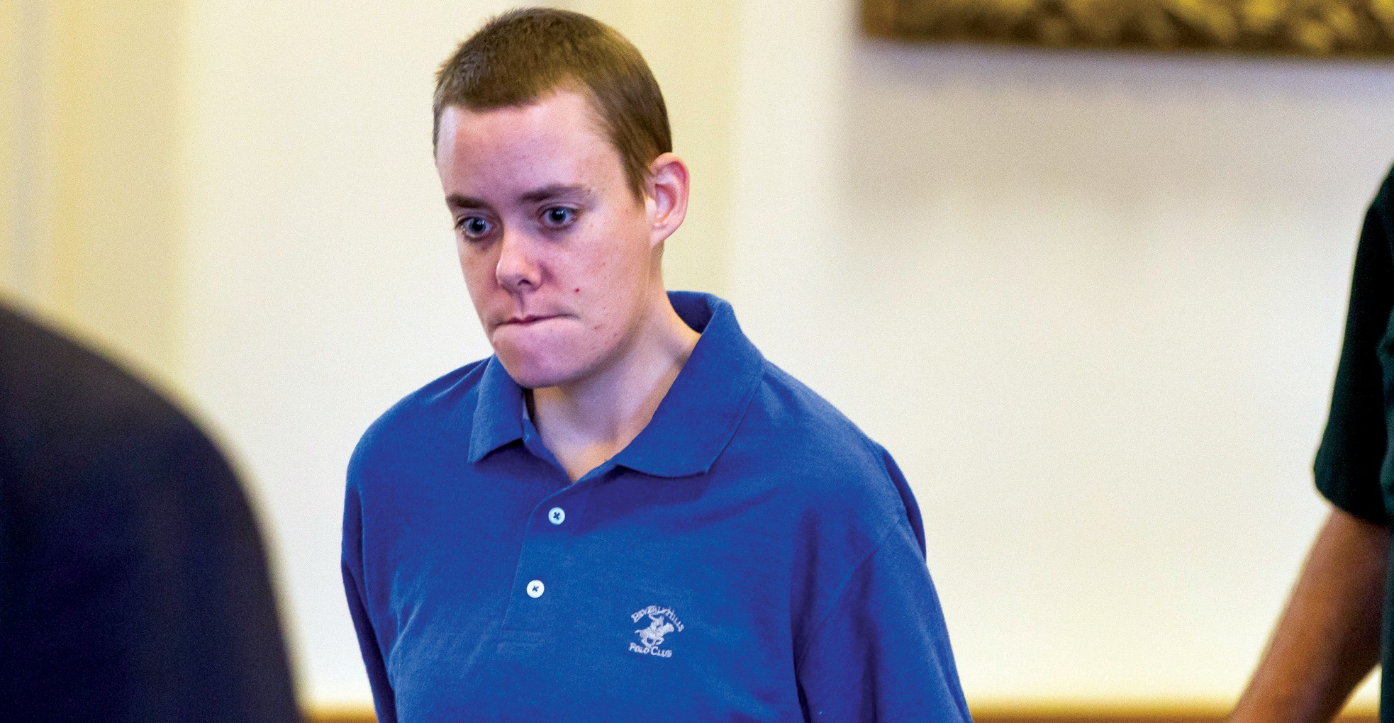 Connor MacCalister, 31, of Saco, is led into the courtroom at the York County Courthouse, Thursday, in Alfred.