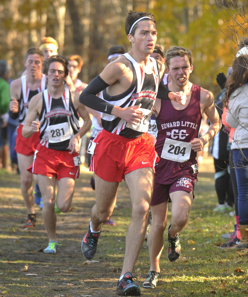Scarborough's #272, Connor Doherty's strong finish helped his team to the boys class A   John Ewing/Staff Photographer