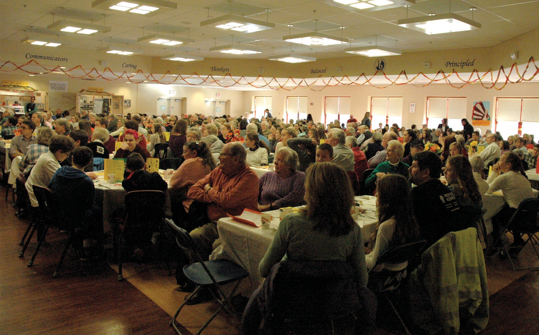 More than 400 people attended The Middle School of the Kennebunks' annual Thanksgiving dinner for seniors put on by the school's eighth-graders last Wednesday.