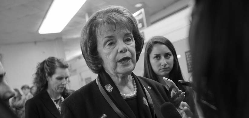 In this June 2 file photo, Sen. Dianne Feinstein, D-Calif., speaks with reporters on Capitol Hill in Washington.