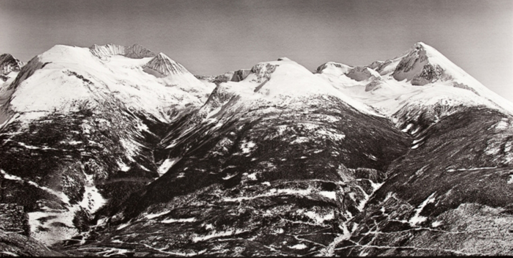 """""""N50-W122-57,"""" by artist DM Witman of Warren. Witman's """"Melt"""" project began with a news story she read on mountain settings that previously hosted winter Olympics but no longer have adequate snow."""