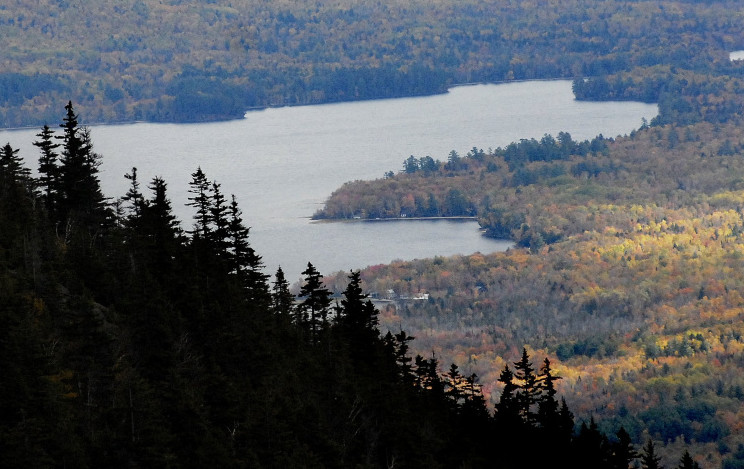 The state has opted against seeking federal Forest Legacy funds for the fiscal year 2017 – money that's been used to complete some of Maine's most significant conservation deals, including nearly 26,000 acres of land near Webb Lake, above.
