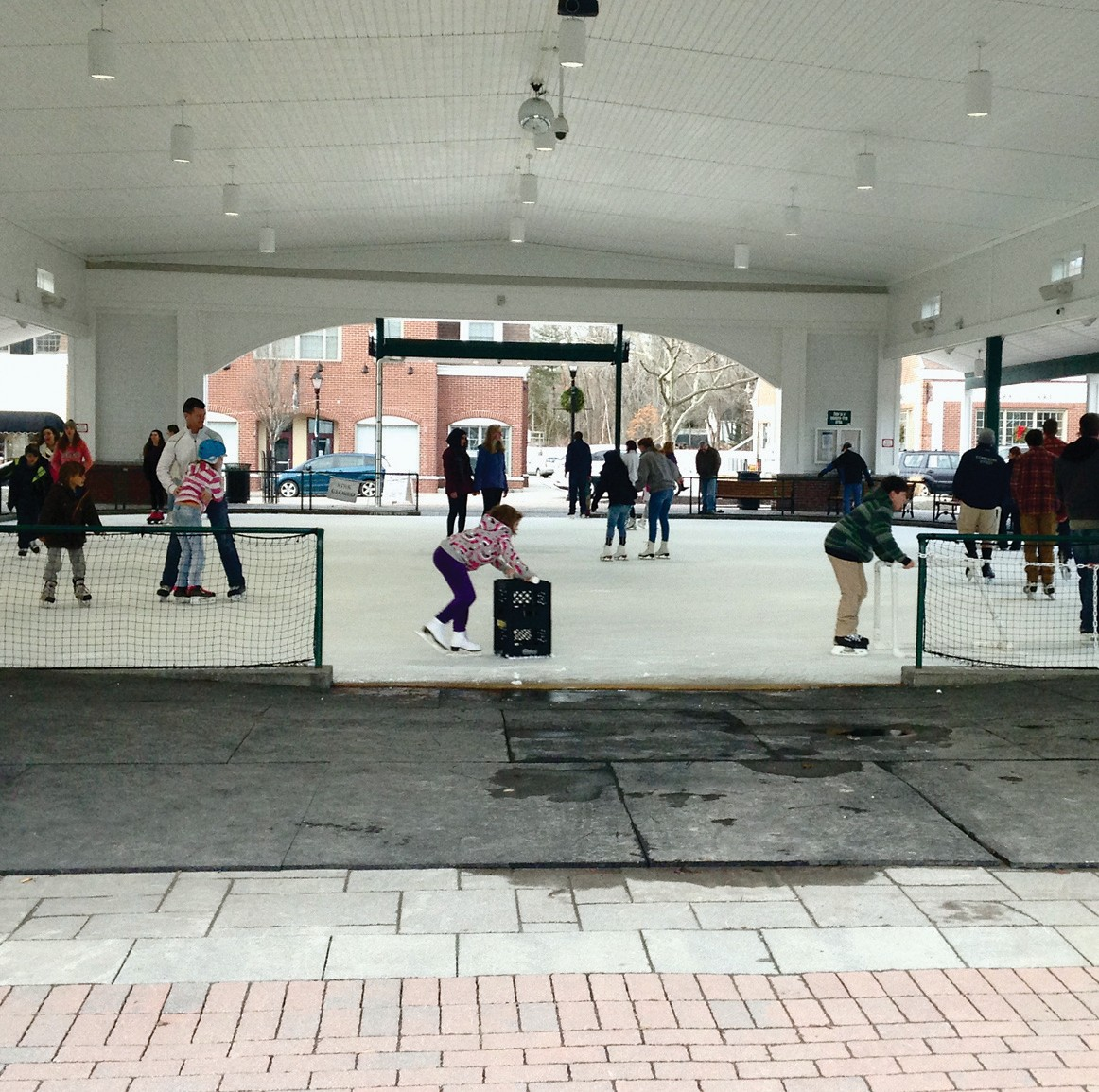 Pictured here is the Waterhouse Center skating pond in Kennebunk.