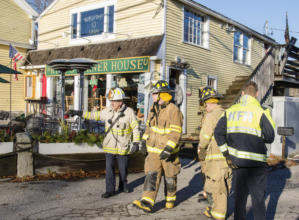 A school bus driver reported a Friday morning fire at The Yellow House in Kennebunk.