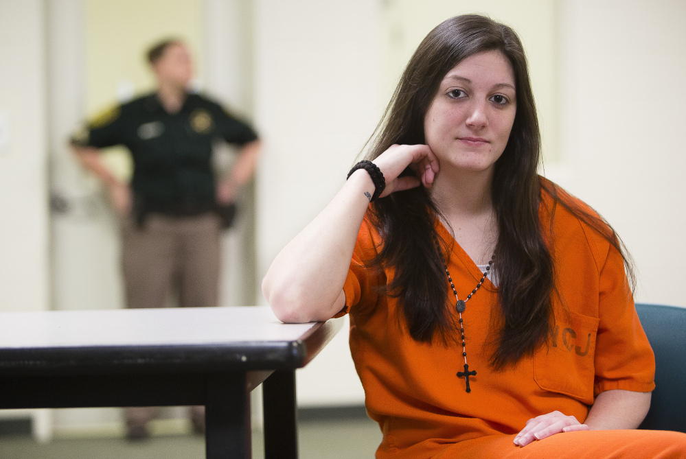 Marissa Vieira, 23, almost died after using heroin laced with fentanyl this summer at the York County Jail in Alfred, where she is awaiting sentencing on theft charges. Since her overdose, Vieira says she has focused on self-improvement, earning her GED and taking classes for the sake of her 3-year-old son.