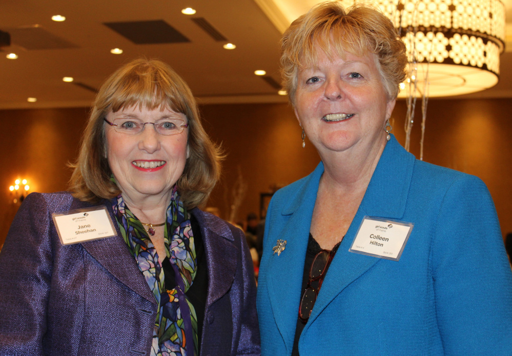 06.29.15   Jane Sheehan, president of the Foundation for Blood Research in Scarborough, and Colleen Hilton, mayor of Westbrook and CEO of VNA Home Health & Hospice.