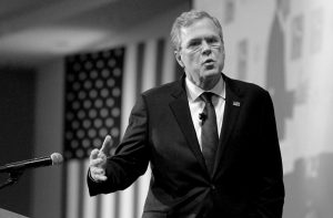 REPUBLICAN PRESIDENTIAL CANDIDATE, former Florida Gov. Jeb Bush speaks at the New Hampshire Forum on Addiction and the Heroin Epidemic at Southern New Hampshire University Tuesday in Manchester, N.H.