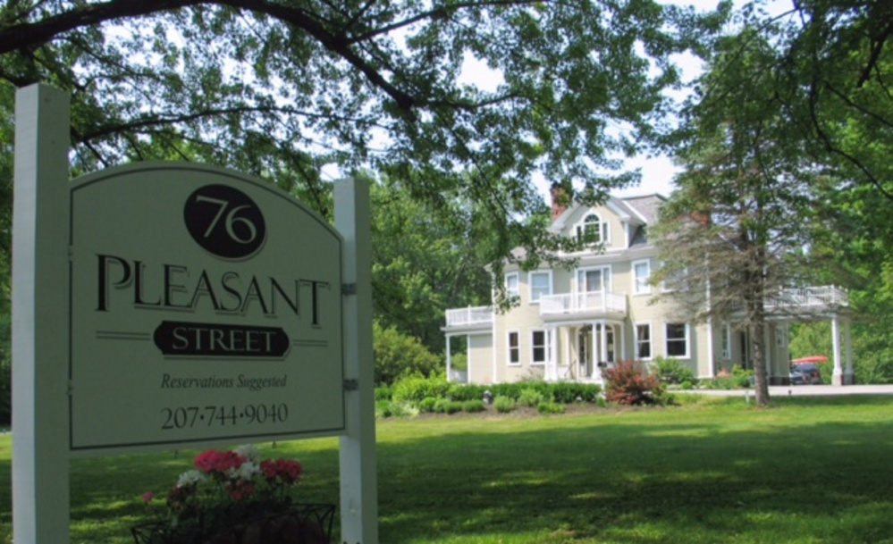 The small dining room at 76 Pleasant Street, seating just 24 customers, is located in a 19th-century house near downtown Norway. Owners Amy and Bret Baker opened the restaurant in 2010.