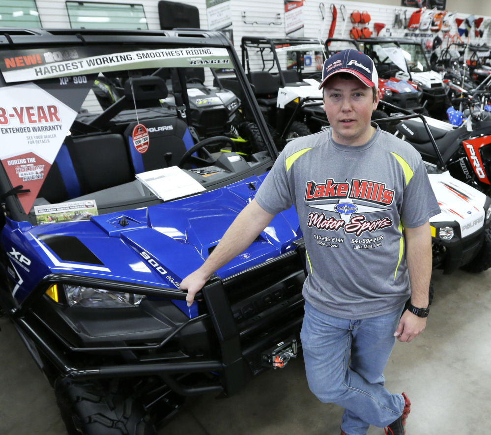 A decision in Iowa to open up roads to all-terrain vehicles has boosted sales, but dealer Michael Rygh believes accidents will be rare. Small communities across the nation are increasingly bending the rules for ATV riders.