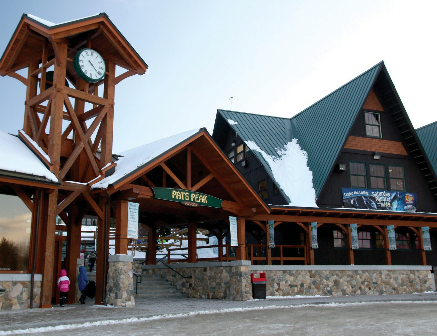 Pictured here is the front entrance of Pat's Peak in Henniker, New Hampshire.