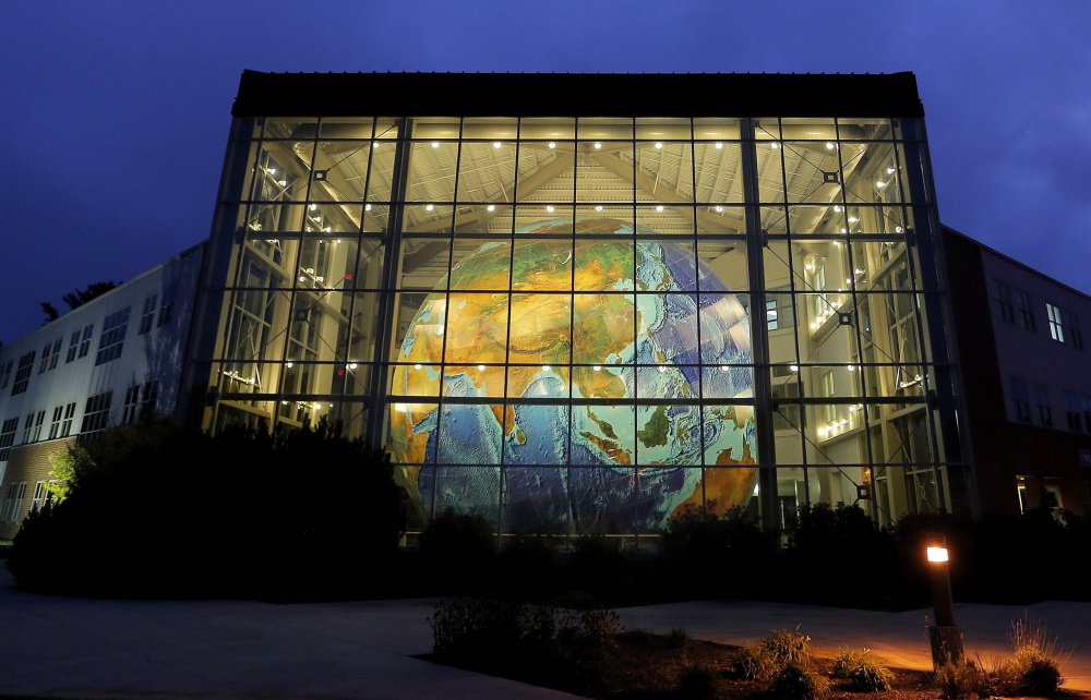 A company official said Eartha, the world's largest rotating globe housed in DeLorme's lobby in Yarmouth, will remain open to the public and tour groups after the sale to Garmin.