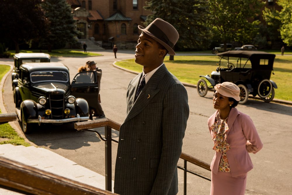 """Stephan James as Jesse Owens and Shanice Banton as Ruth Solomon in """"Race."""""""