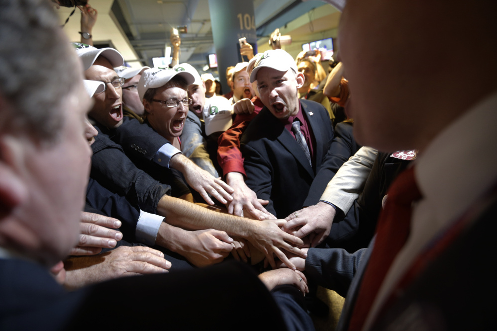 After the national party replaced 10 Maine delegates backing Ron Paul with 10 supporting Mitt Romney, the Paul supporters walked out of the Republican National Convention in 2012.