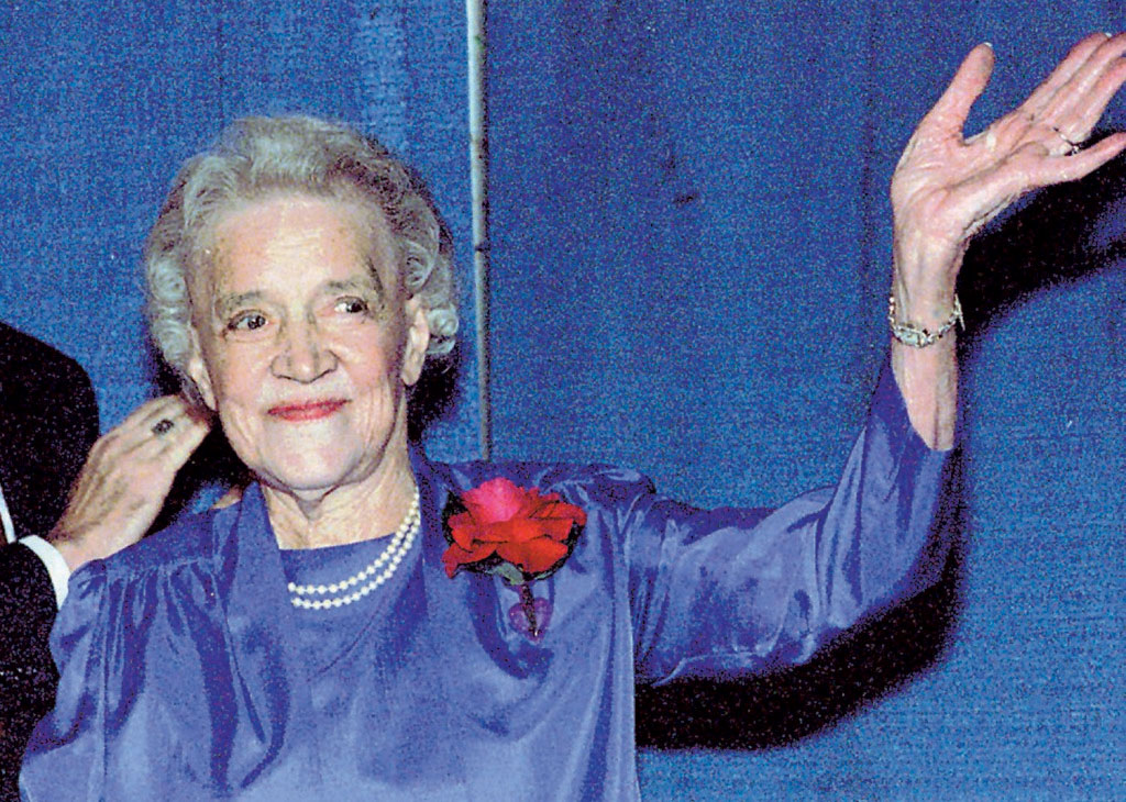 Margaret Chase Smith, shown in 1988.