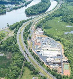 AERIAL VIEW of the Mattabassett Water Pollution Control Facility in Connecticut.