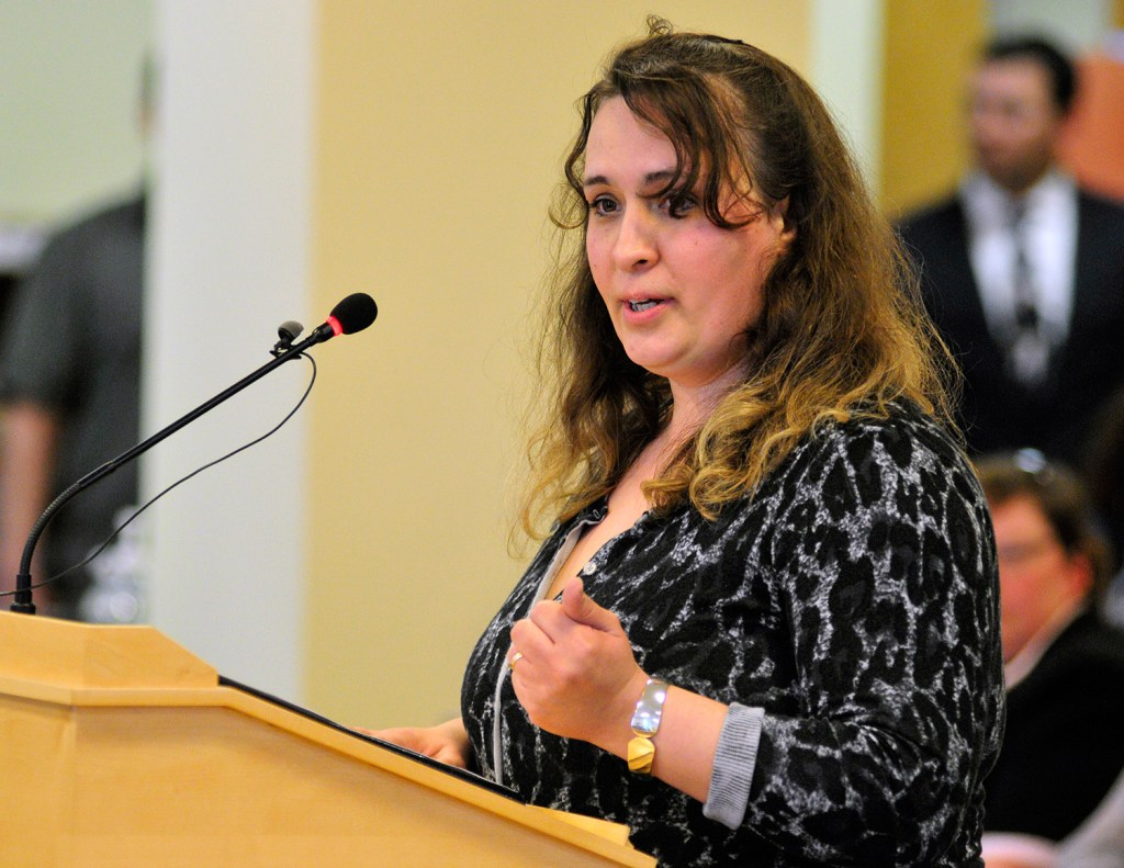 Tiffany Murchison of Bath told the Health and Human Services Committee at a hearing April 1 that her case managers helped her overcome PTSD and agoraphobia and go on to become a business owner and mother who no longer needs support services. Joe Phelan/Kennebec Journal