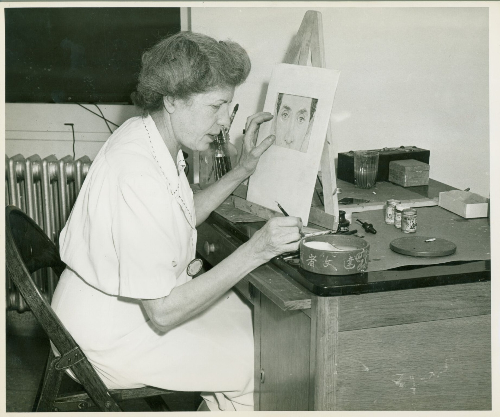 Mildred Burrage, Staten Island, ca. 1943. Collections of Maine Historical Society. Item #53955 on MaineMemory.net.