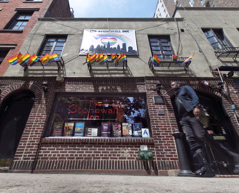 Barring last-minute complications, the Stonewall Inn in New York's Greenwich Village, site of protests in 1969, and part of the surrounding neighborhood, will be designated the first-ever national monument recognizing the gay rights struggle.