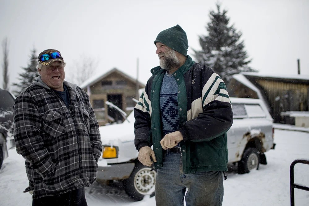 Carter McBreairty, left, and his first cousin once-removed, Jess McBreairty, were among the primary targets of a two-year warden service investigation of fish and game violations in the area, and both were convicted of minor offenses. Law enforcement experts and local civic leaders say the undercover operation and takedown raid appeared to be out of proportion with the suspected crimes.