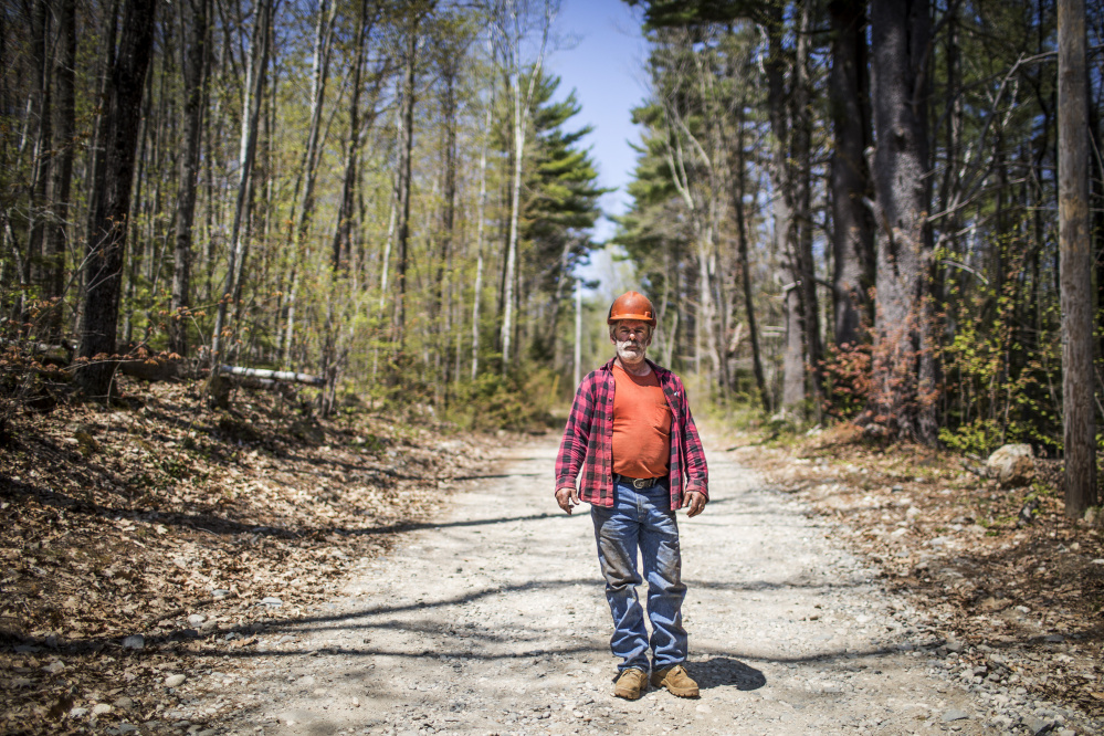Pictured Wednesday at a job site in East Waterboro, Richard Sanborn Sr. says he now regrets having accepted a plea deal in a York County undercover investigation by the Maine Warden Service. He was convicted of 10 charges and fined $7,420.