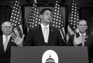 HOUSE SPEAKER PAUL RYAN of Wisconsin, flanked by House Majority Whip Steve Scalise of Louisiana, left, and Rep. Lee Zeldin R-N.Y., right, tells reporters it looks like Hillary Clinton got preferential treatment from the FBI in its investigation of the former secretary of state's use of a private email server for government business, during a news conference at Republican National Committee Headquarters on Capitol Hill in Washington, Wednesday. He said there are a number of outstanding questions about the FBI inquiry. Director James Comey will be testifying today before the House Oversight committee, and the House Judiciary panel has scheduled a hearing next week with Attorney General Loretta Lynch.