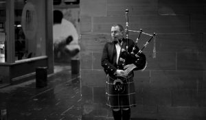 A MAN WEARING A KILT plays the bagpipes in central Glasgow, Scotland. In one of the defining splits of last week's EU referendum, all 32 council areas in Scotland as well as Northern Ireland voted for Britain to stay in the bloc. Even towns shattered by the demise of shipyards, coal mines and steelworks made the calculus that quitting the EU wouldn't turn things around for them.