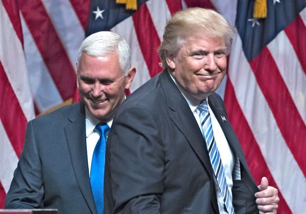 Trump, Pence seek contrast with Clinton, Obama: 'We're ...