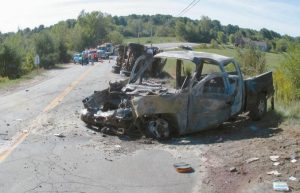 MAINE STATE POLICE are investigating a crash in Durham on Wednesday morning that left two men dead and two injured.